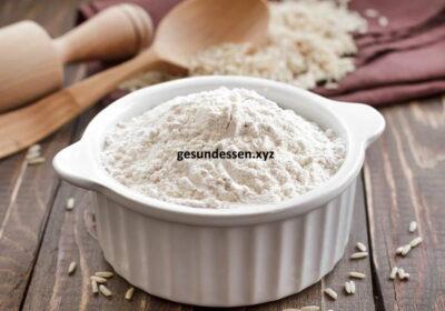 Gesichtspeeling von Reismehl